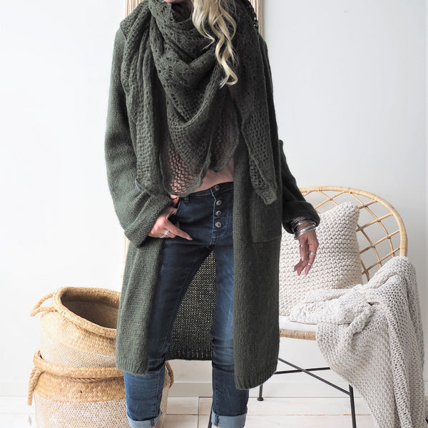 ByPias - Slowly Morning Cardigan - Green - The Nest Shop
