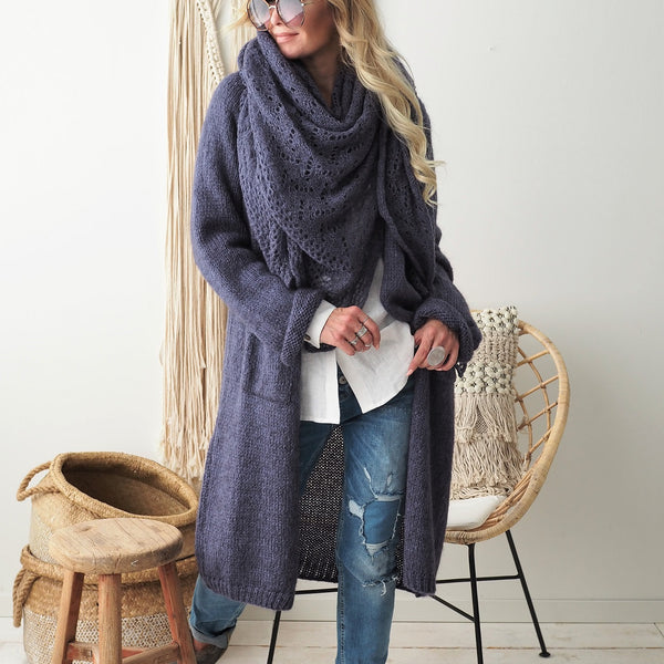 ByPias - Slowly Morning Cardigan - Blueberry - The Nest Shop