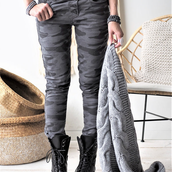ByPias - Perfect Jeans Camo - Grey