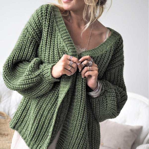ByPias - Love Knit Cardigan - Cactus Green - The Nest Shop