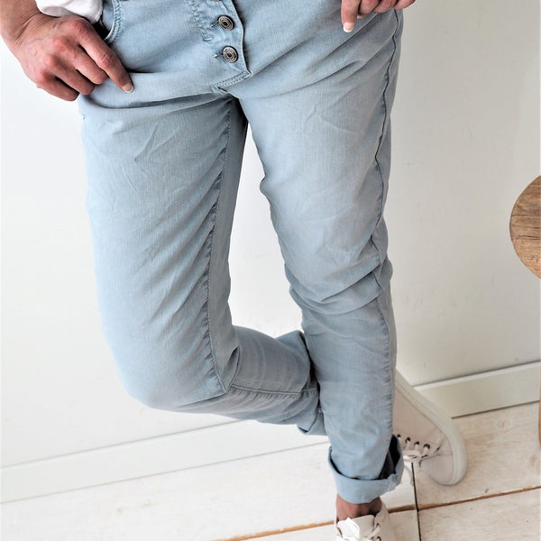 ByPias - Super Comfy Jeans - Light Blue - The Nest Shop