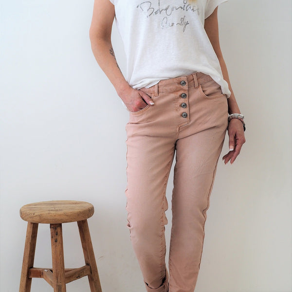 ByPias - Super Comfy Jeans - Light Pink - The Nest Shop
