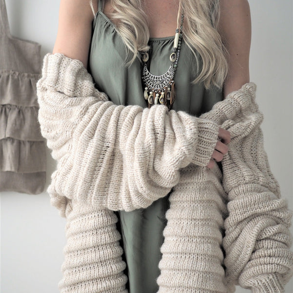 ByPias - Huggie Cardigan - Beige - The Nest Shop
