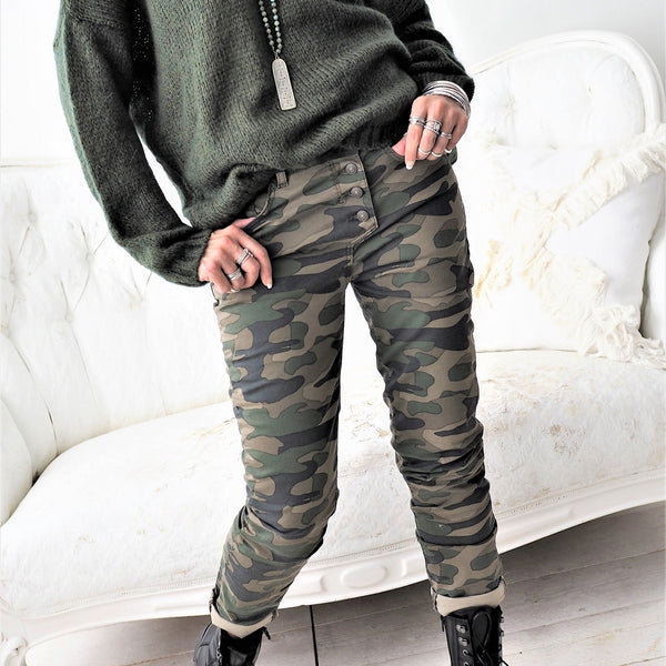 ByPias - Perfect Jeans Camo - Green - The Nest Shop