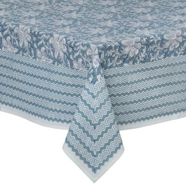 Duk - Lakshmi Dusty Blue - 150 x 250 cm - The Nest Shop