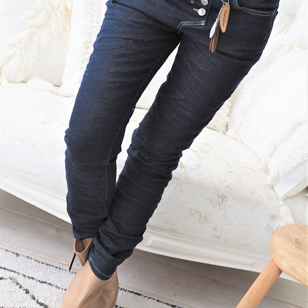 ByPias - Perfect Jeans Casual Boyfit - Dark Blue - The Nest Shop