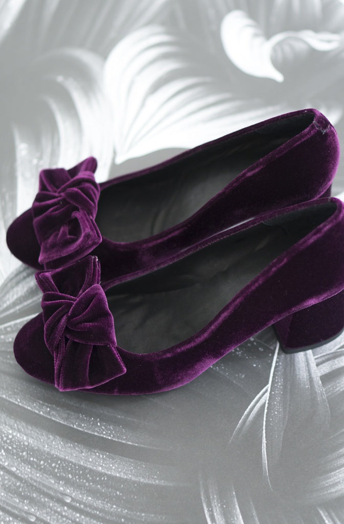 Billi Bi - Bordeaux Velvet Pump - The Nest Shop