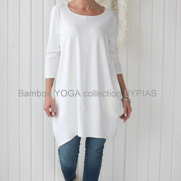 Bamboo Freedom Tunic - White - The Nest Shop