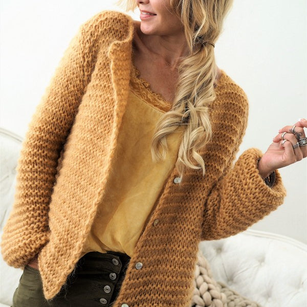 ByPias - Coziness Cardigan - Curry - The Nest Shop