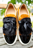Billi Bi - Curry Sneakers with Black Fur - The Nest Shop