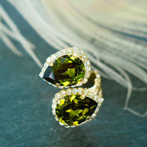 Caprice Decadent - Double Bliss Ring - Green - The Nest Shop