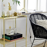 Bloomingville - Grid Sidetable - Gold - The Nest Shop