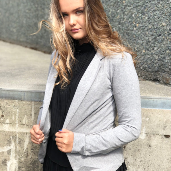 Molly Blazer - Grey - The Nest Shop