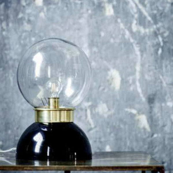 Bordlampe metall og glass - The Nest Shop