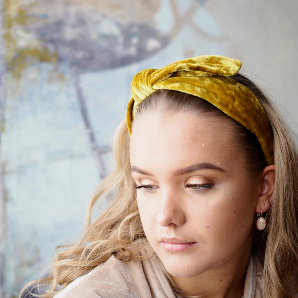 Nectar - Velvet Headband - Gold - The Nest Shop
