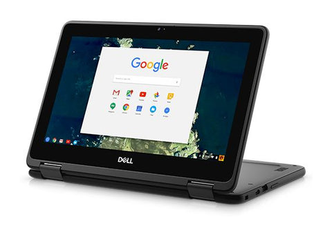 "Dell Chromebook 5190 2-in-1 Convertible, 11.6"" Touchscreen, Intel N3350, 32GB eMMC, 4GB DDR4, Chrome OS – Refurbished"
