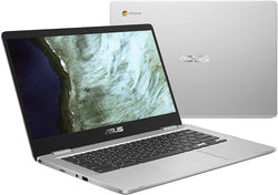 "Asus C423NA 14"" Touchscreen Chromebook, Intel Quad-Core N4200 1.1 GHz, 4 GB RAM, 32 GB eMMC, Chrome OS - Refurbished"