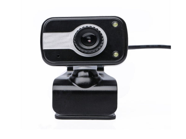 Generic Webcam: 640x480P, Built-in microphone, 2 LED lights, USB plug and play, 3.5mm Mic plug, Support Windows 7, 8, 10