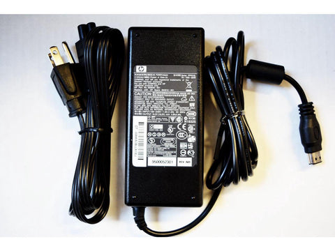 Original HP Laptop AC Adapter: 18.4V/4.9A 90W Oval Connector 12.4 x 6.7mm. Series: PPP012L. HP Part No. 393949-001. Replace with HP Spare 394810-001. For HP Pavilion ZV6000, Compaq Presario R4000