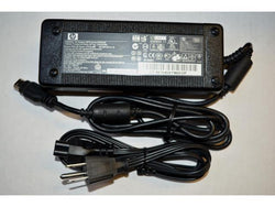 Original HP Laptop AC Adapter: 18.4V/6.5A 120W Oval Connector 12.4 x 6.7mm. Series: PPP016H. HP Part No. 375125-002. Replace with HP Spare 375143-001.
