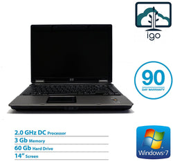 "HP Compaq 6535b 14"" laptop (AMD Dual Core 2.0G/3GRAM/60G/ Win7 Pro)"