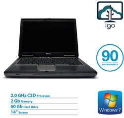 "DELL Latitude D630 14"" Laptop (Intel Core 2Duo-2.0/60G/2GRAM/Win7 Pro)"