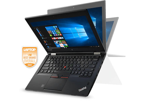 "Lenovo Yoga 260 Business Convertible - 12.5"" Touch, Intel i5-6200U 2.3GHz, 8GB, 180GB SSD, Webcam, HDMI, Windows 10 Pro - Refurbished"