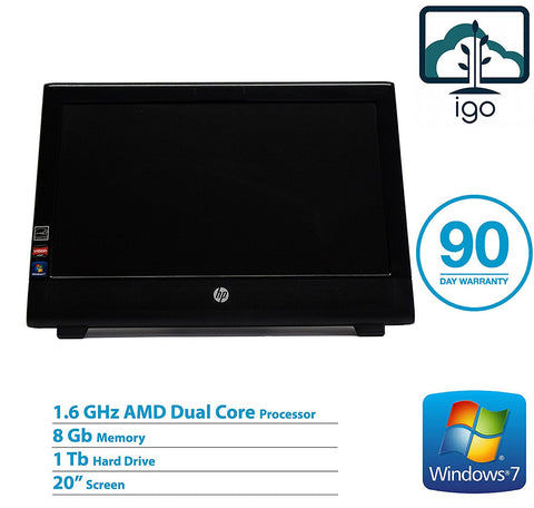 "HP 100B All-In-One PC(DualCore 1.6 GHz/8 GDDR3/1T/ 20""/ Win7 Pro)"