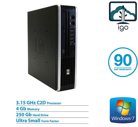 HP Compaq Elite 8000 Ultra Slim (Core2Duo 3.15G /4G DDR3/ 250G HDD/Win7 Pro)