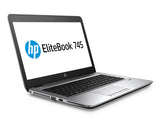 HP elitebook 745 G3: AMD Pro A10-8700B R6 1.8GHz Quad-Core, 8G DDR3L, 256 SSD, webcam, bluetooth, win10 pro