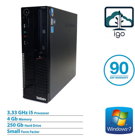 LENOVO ThinkCentre M90p(Intel Core i5 3.33G /4G DDR3 RAM /250G /Win 7 Pro)