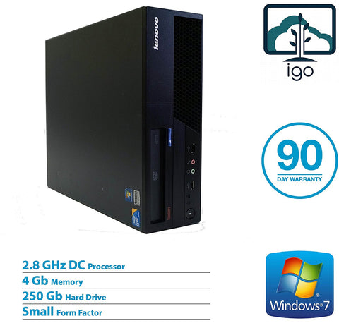 LENOVO Thinkcentre M58 7360(Dual Core 2.8G /4GDDR3 / 250G /DVD /Win7 Pro)