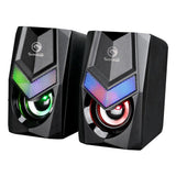 Marvo SG118 USB Powered, 3.5mm Plug RGB LED Gaming Speakers