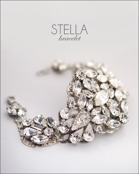 Stella statement wedding bracelet
