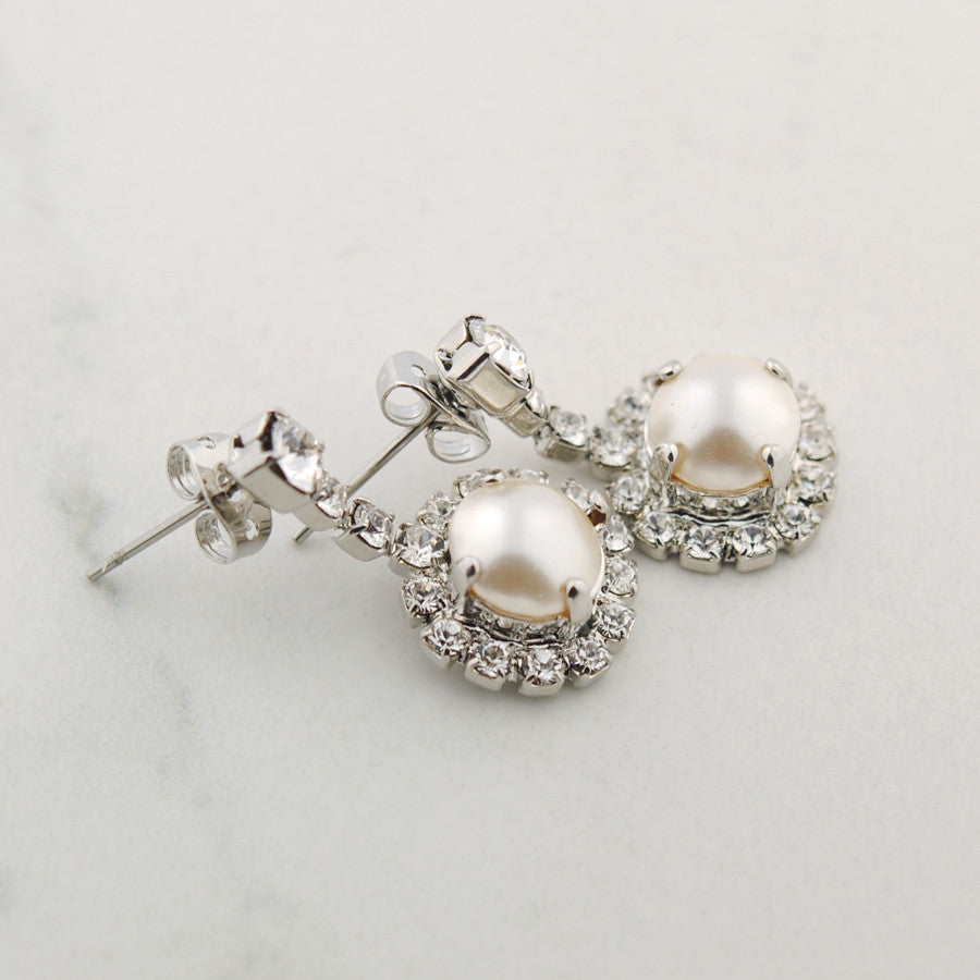 Claudine pearl earrings