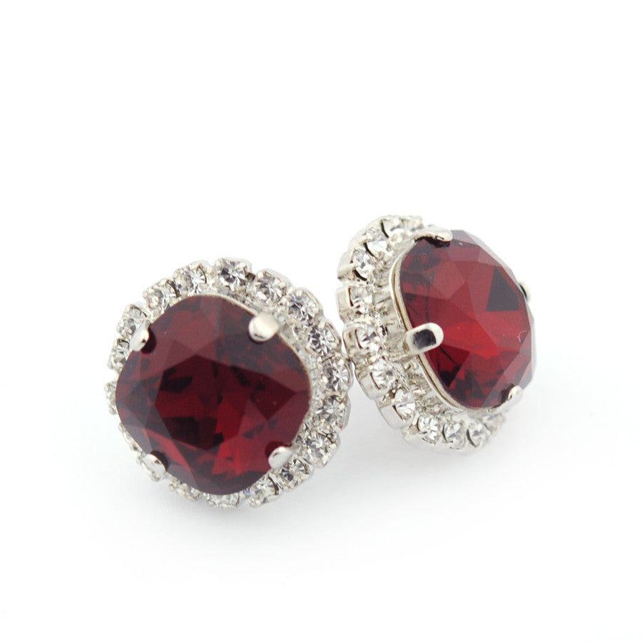 Embellished cushion cut studs
