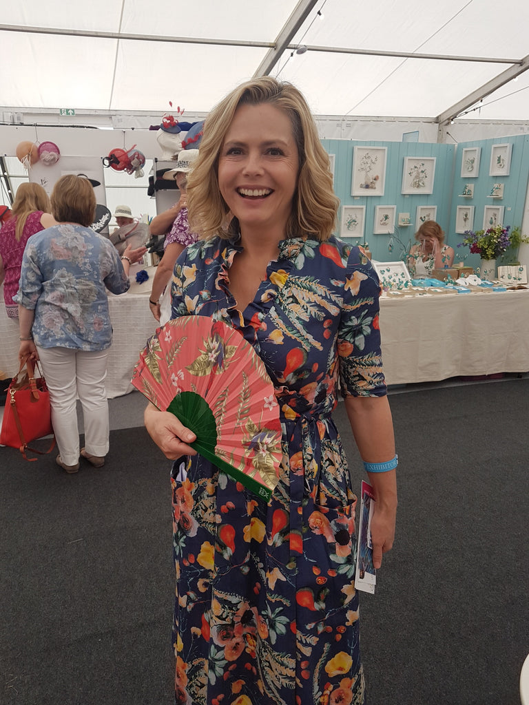 The inspirational Liz Earle with the Plum Parrot