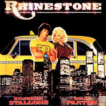 Film Poster for RHINESTONE with Sylvester Stallone and Dolly Parton