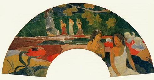 Hand-Fan Leaf Aréaréa (éventail), Paul Gauguin, 1892