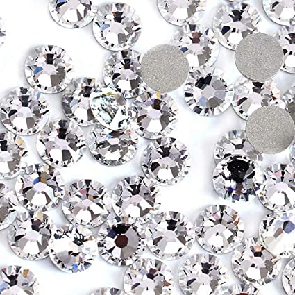 Image of swarovski crystals clear colour.