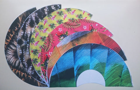 Cotton Pre-treated fabric for first Khu Khu Fine Hand-Fans