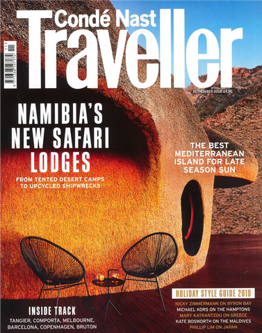 Conde Nast Traveller  - Cover Page - Magazine features luxury gift guide with Khu Khu handfan