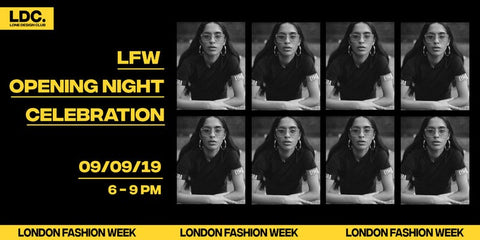 Lone Design Club LFW concept store opening night invitation