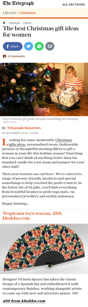 #telegraph #magazine #christmas #gift #guide #2016 #article #khukhu #fans
