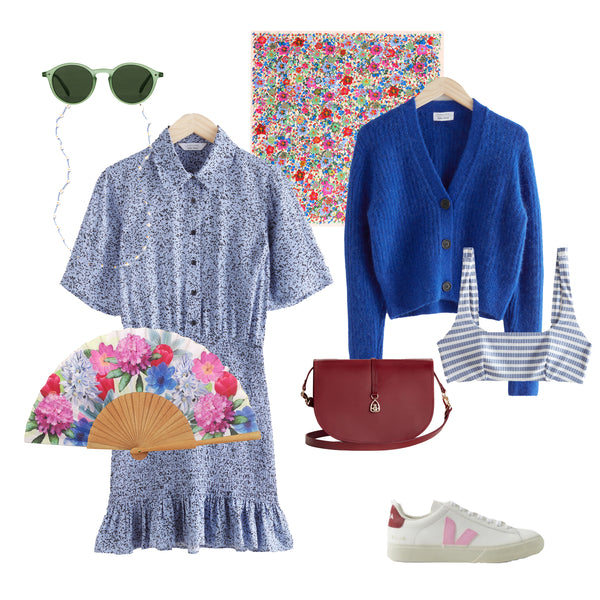 Khu Khu SPRING hand-fan weekender style up with images of other brands items