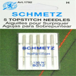 SCHMETZ NEEDLE-TOPSTITCH, CARD 12""