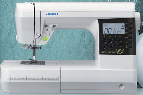 Juki HZL-G Series Full Sized Computer-controlled Sewing Machine with Bright LED Display - HZL-G120