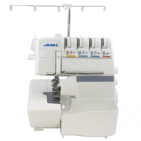 Juki 2-MO-735 2-Needle, 2/3/4/5-Thread Overlock Machine with Differential Feed & 3-Needle, 4-Thread Bottom Cover Stitch Sewing Machine