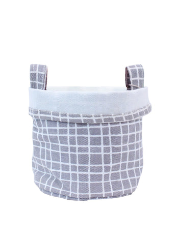 Recycled Canvas Bucket Large - Woven Grey