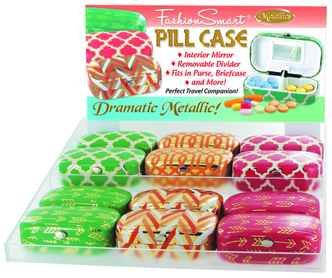 Fashion Smart Pill Case 24 Pc Display